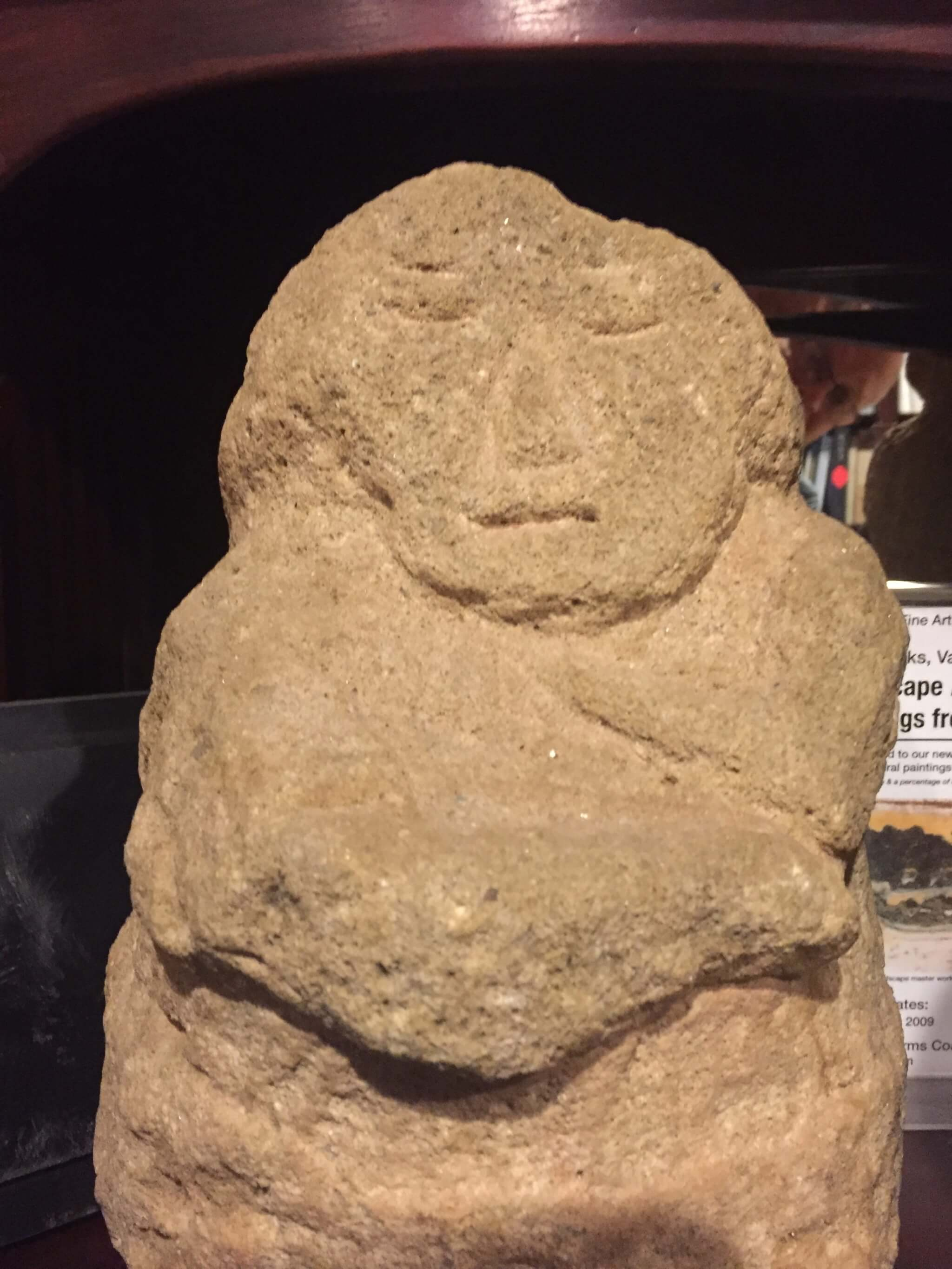 Native america an ancient hand carved stone human effigy