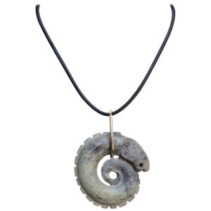 Coiled Dragon Jade Necklace