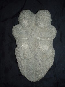China Neolithic Stone Connected pair male and female, Hongshan /Xinglongwa culture, 6000-5000 BCE, fine quality