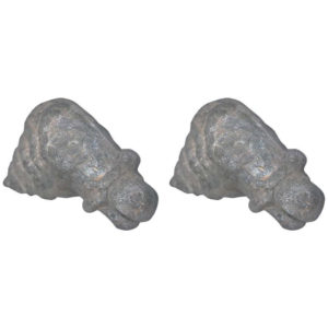 Monumental Spirit Path Stone Horse Head Pair