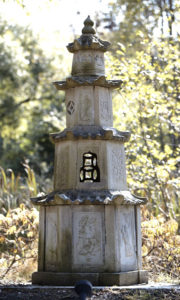 Buddhist stone pagoda tower