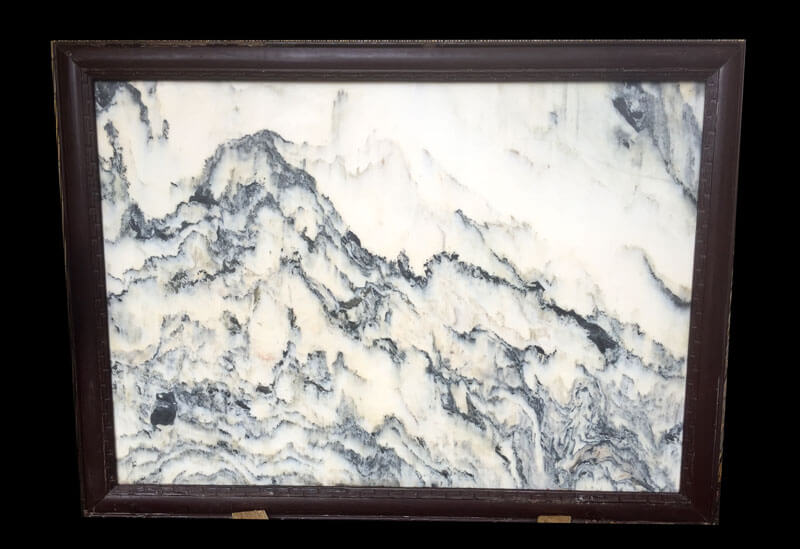 "China, monumental natural dream stone painting ""Classic Ming"""