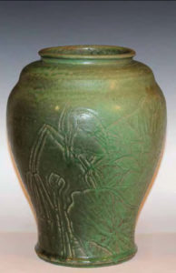 Japan Arts and Crafts pottery vase