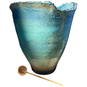 Blue jewel-colored bowl Mizubachi