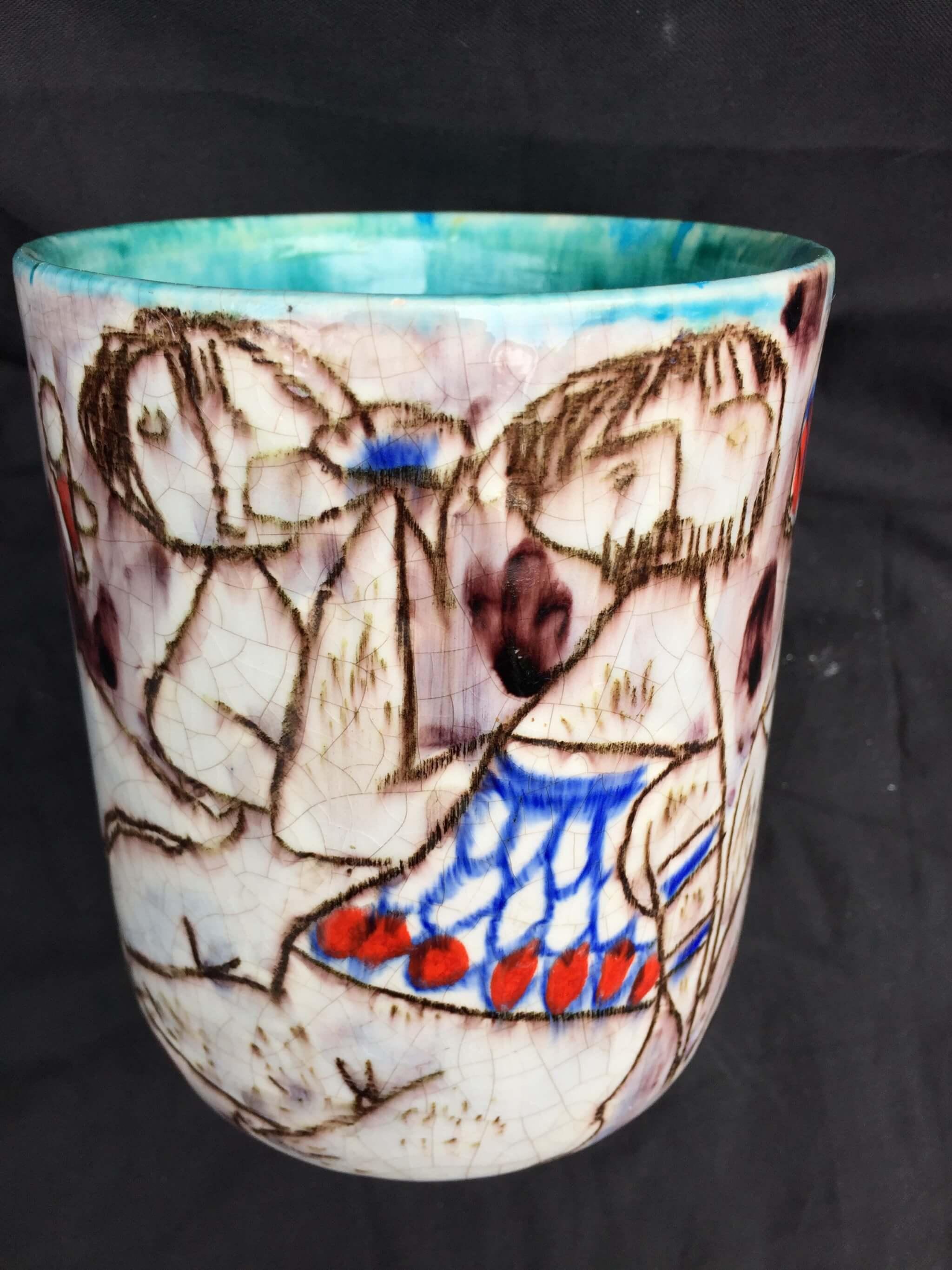 Italy Quot Erotica Quot Vessel Studio Ceramic 1950 Picasso Fantoni