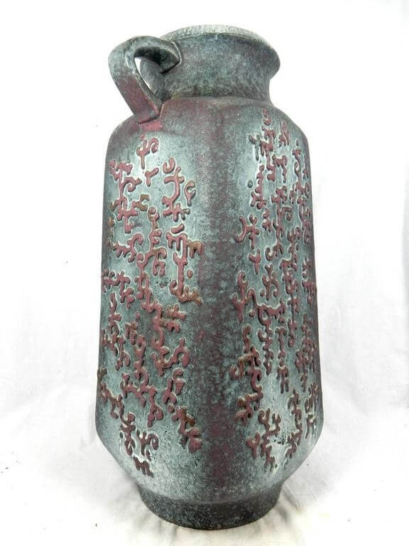 An early contemporary tall handcrafted and hand glazed