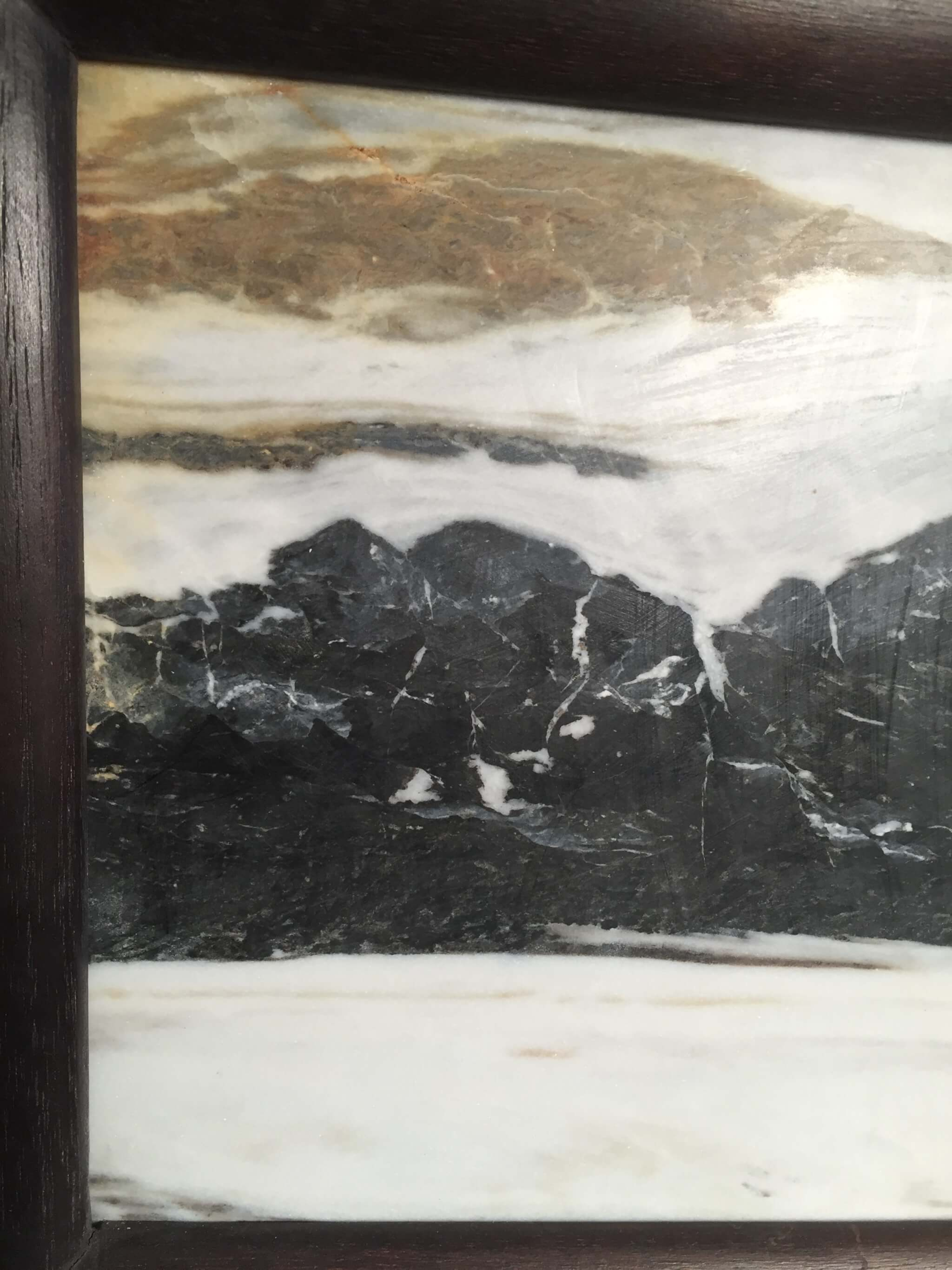 Chinese Extraordinary Natural Stone Marble Painting Of A