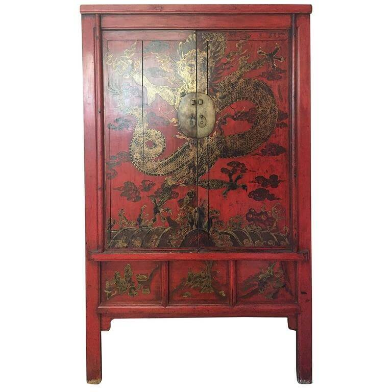 lightbox - Chinese Antique Red