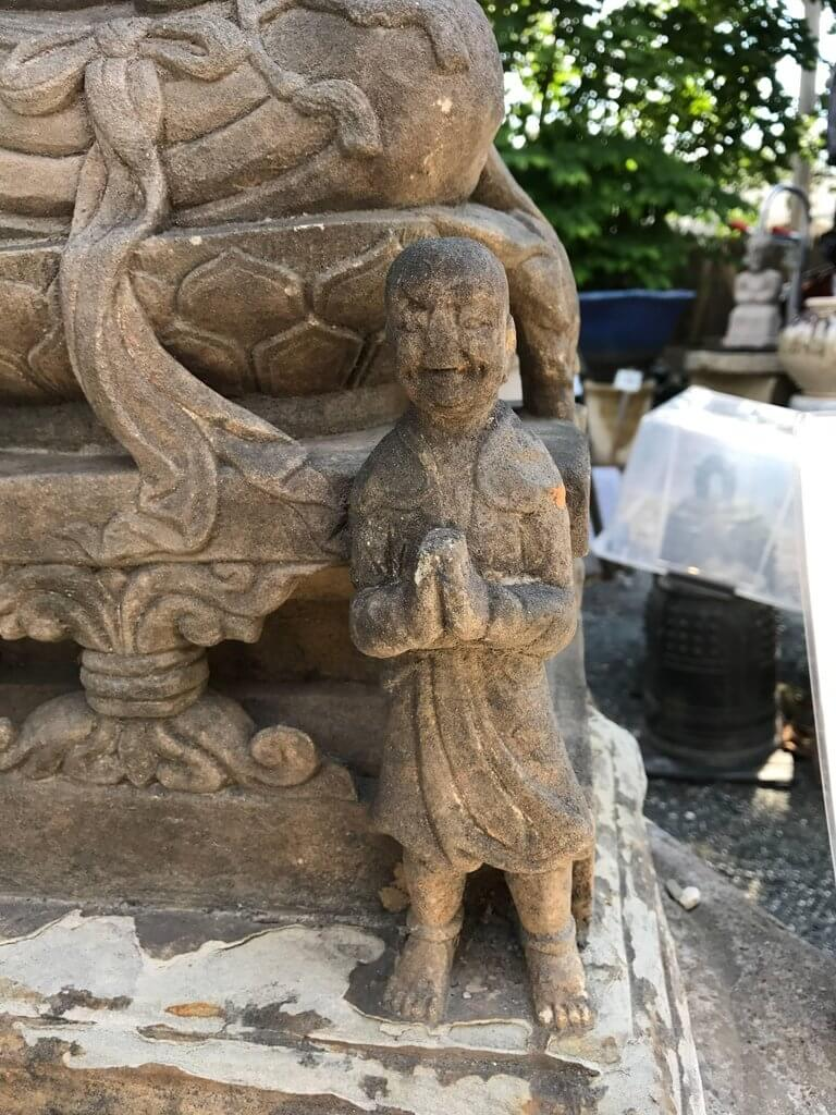 Chinese antique stone bodhisattva hand carved years