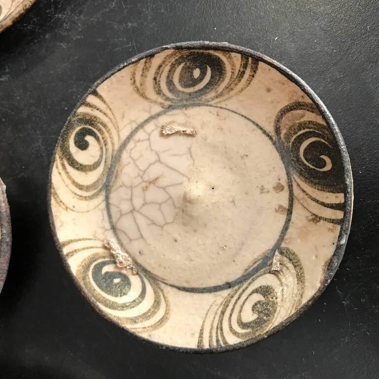 lightbox & Japan Antique Collection Six Handcrafted Horse Eye Ceramic Plates ...