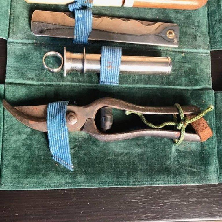Japanese Antique Tool Kit of Four Professional Bonsai ...
