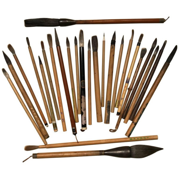 how to use chinese paint brushes