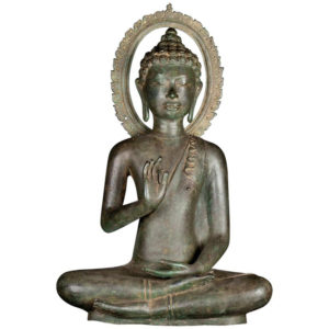 Teaching Buddha with Divine Halo - Bronze