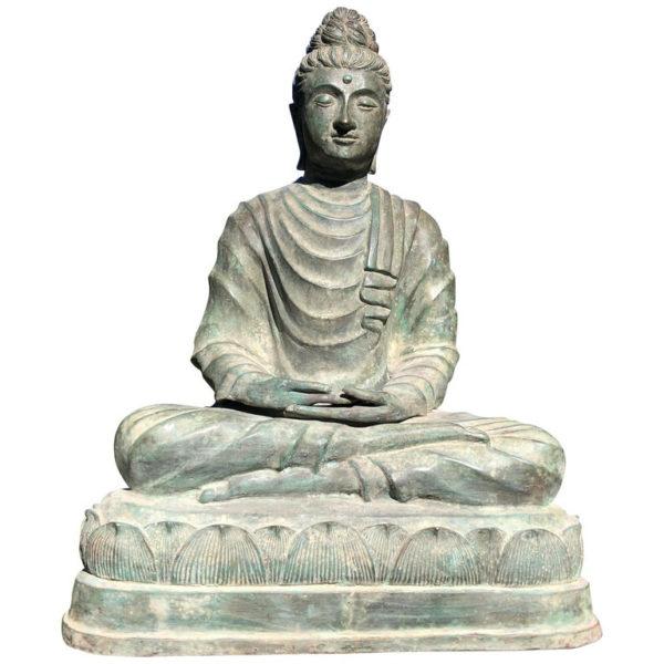 Bronze Gandhara Meditation Buddha