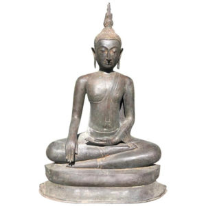 Monumental Bronze Seated Enlightenment Buddha