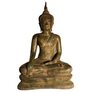 Bronze Buddha Calling Earth to Witness
