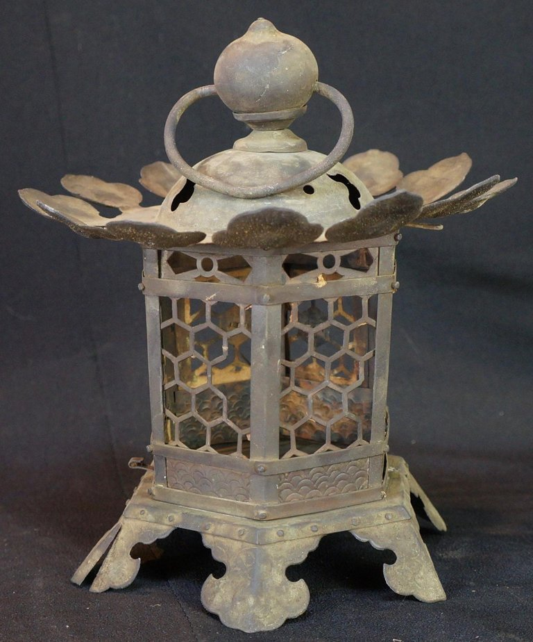 Buy Antique Handcrafted Buddha Lantern For Corporate: Japanese Tall Antique Lantern With Double Doors And Fine