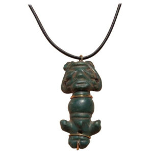 Carribean Jade Amulet Necklace over 500 years old
