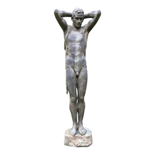 Koga Tadao Male Nude Sculpture