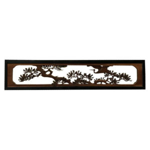 flying crane carved screen