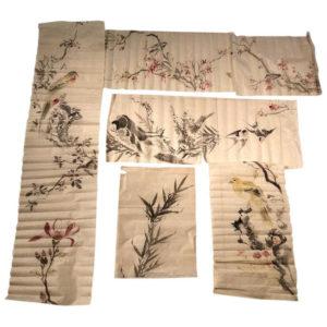 birds, flowers, lilies paintings album