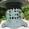 blue birds and bamboo motif lantern