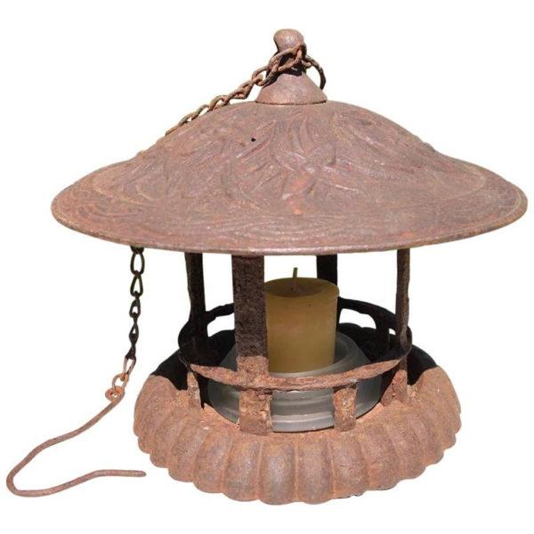 hanging flower vine motif lantern