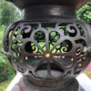 heart motif bronze garden lantern