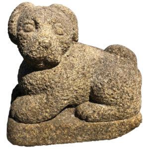 stone garden puppy dog sculpture