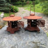 pair tea garden lanterns