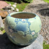 Antique Big Brilliant Blue Ceramic Planter Bowl