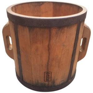 Folk Art Handmade Wooden Rice Measure