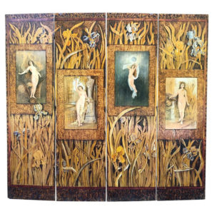 Rhode Island Four Seasons Pyrography Screen