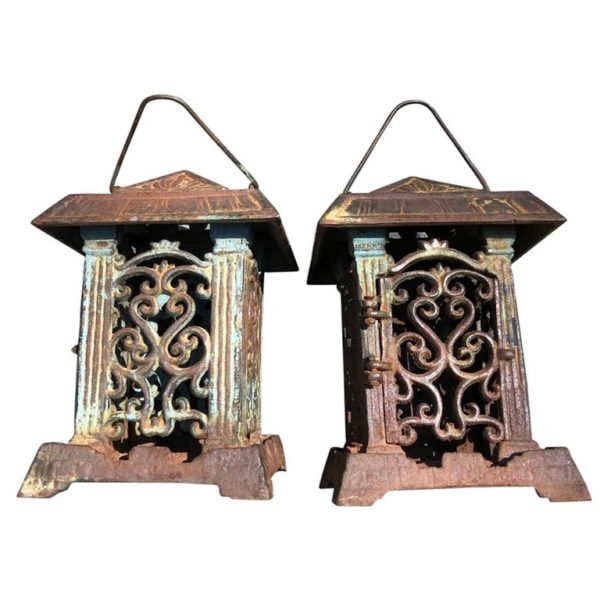 Pair Vine of Life Garden Lanterns