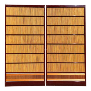Fine Red Lacquer Shoji Doors Screens