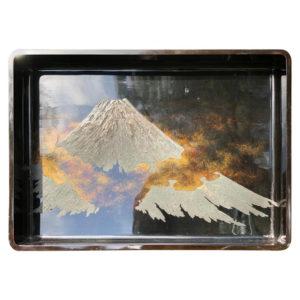 Mt Fuji Lacquered Tray