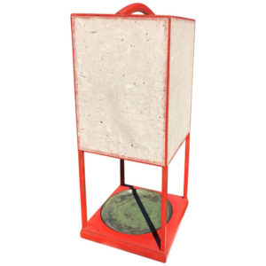 Red Lacquer Andon Floor Lamp