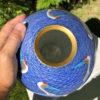 Blue Fukagawa Cranes Vase
