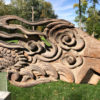 Dragon and Clouds Sculpture