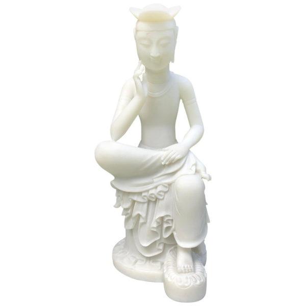 Elegant White Seated Kanon, Maitreya