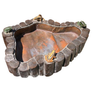 Whimsical Ceramic Frogs Planter Bowl