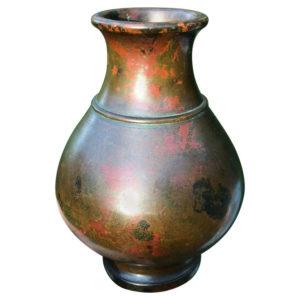 Red Murashido Bronze Vase