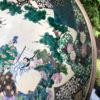 Three Garden Scene Ceramic Bowls in Vivid Hand-painted Color