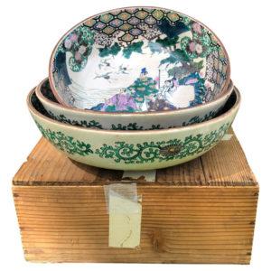Hand-painted porcelain serving Bowls