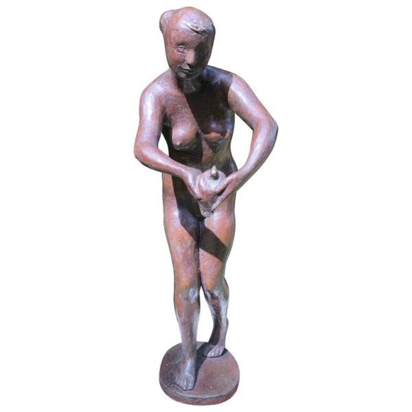 Yano Nude holding dove