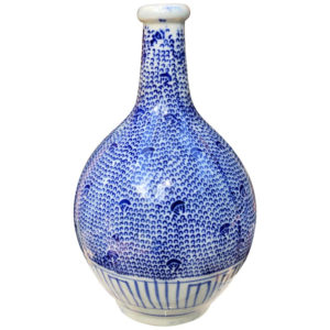 Blue and white Bud Vase with Vines