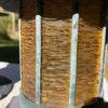 Bronze & Amber Glass Sconces