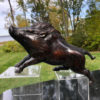 Boar Pig Finely Cast Bronze Sculpture