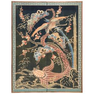 Tsutsugaki Wall Art Screen