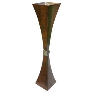 Handsome Tall Bronze Koshun Bud Vase
